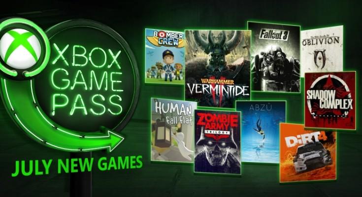Xbox Game Pass em julho de 2018