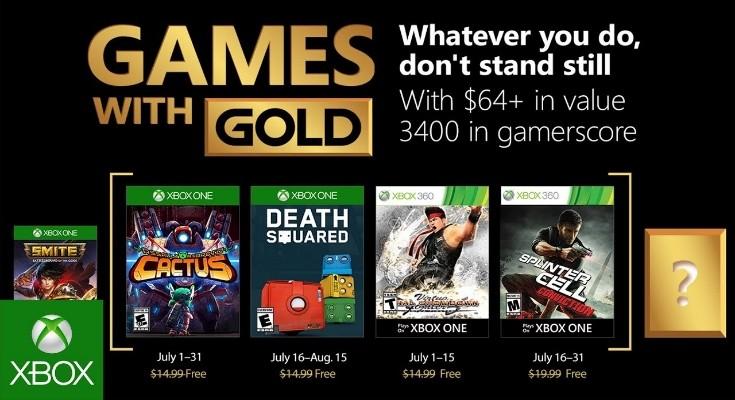 Games with Gold para Julho de 2018