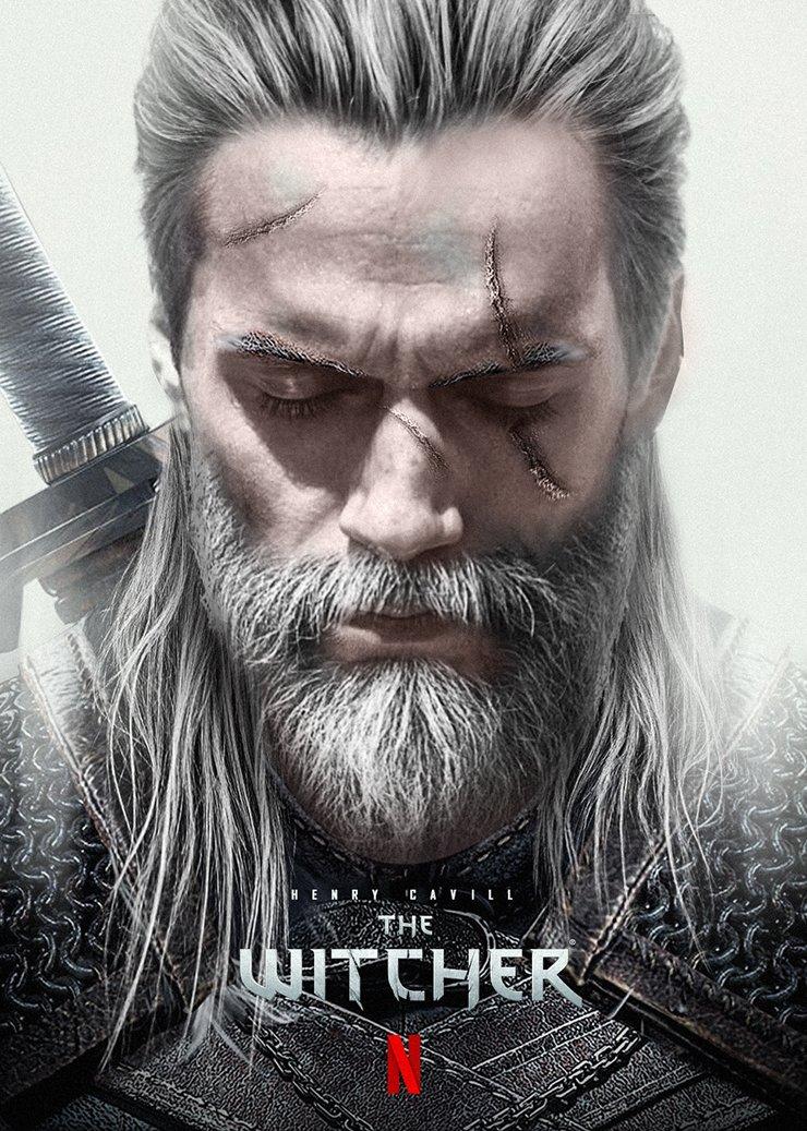 Henry Cavill como Geralt de Rivia - Imagem por @Bosslogic
