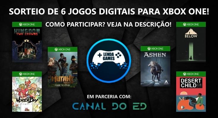 Sorteio de 6 Jogos para Xbox One em Mídia Digital!