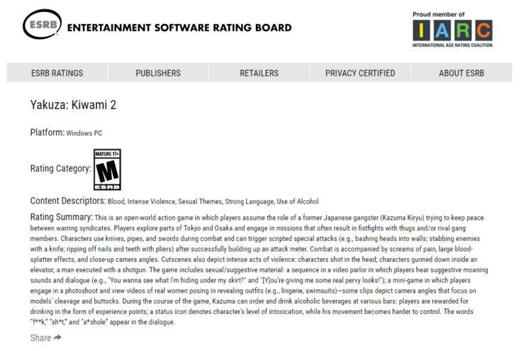 ESRB - Classifica o game para Windows PC.