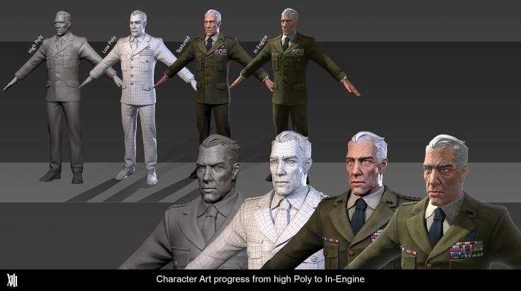 XIII - Arte de personagem do jogo. (Imagem de Divulgação)