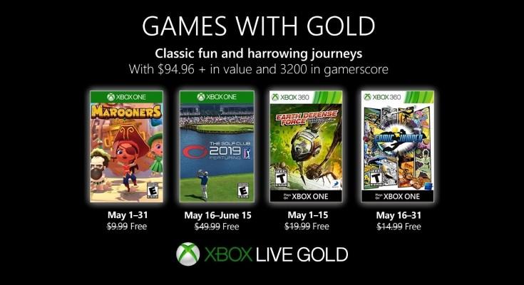 Games with Gold - Jogos grátis em Maio de 2019 na Xbox Live!