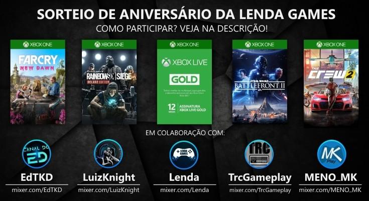 1 Ano de Lenda Games - Giveaway de Aniversário!