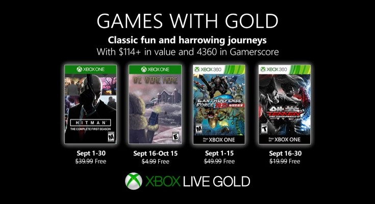 (GwG) Games with Gold - Jogos grátis - Setembro de 2019 na Xbox Live!