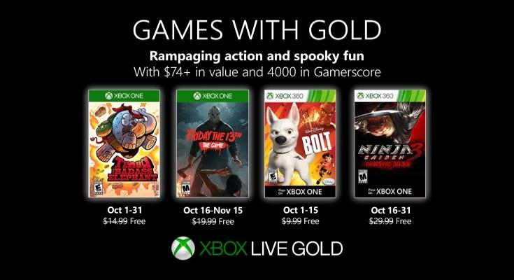 (GwG) Games with Gold - Jogos grátis - Outubro de 2019 na Xbox Live!