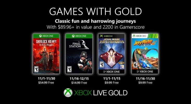 (GwG) Games with Gold - Jogos grátis - Novembro de 2019 na Xbox Live!
