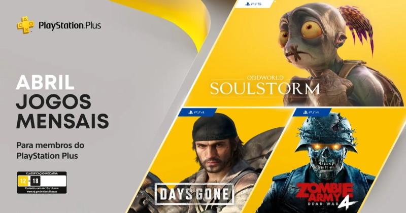 PlayStation Plus - Jogos grátis para Abril de 2021!