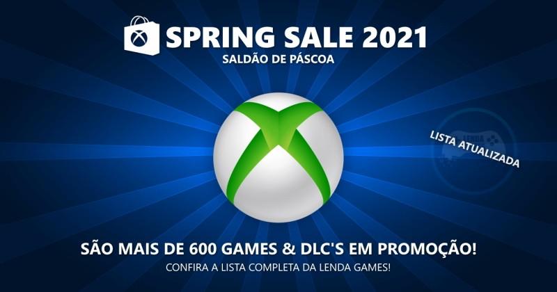 Spring Sale 2021: Lista completa de ofertas para Xbox One, Series X/S e 360!