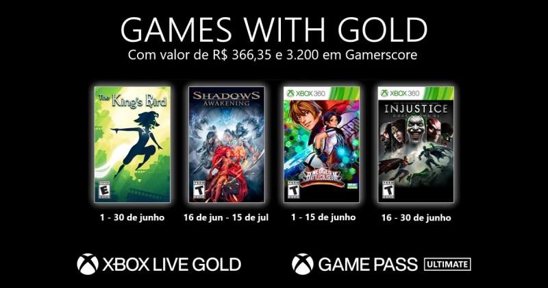 (GwG) Games with Gold: Jogos Grátis - Junho de 2021 na Xbox Live!