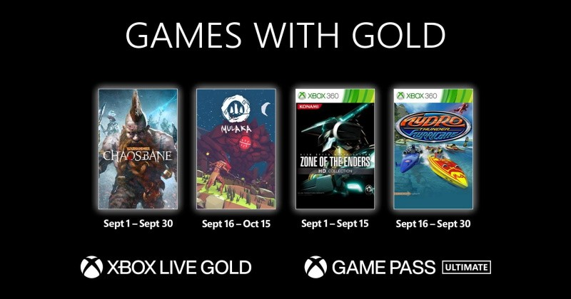 (GwG) Games with Gold: Jogos Grátis - Setembro de 2021 na Xbox Live!